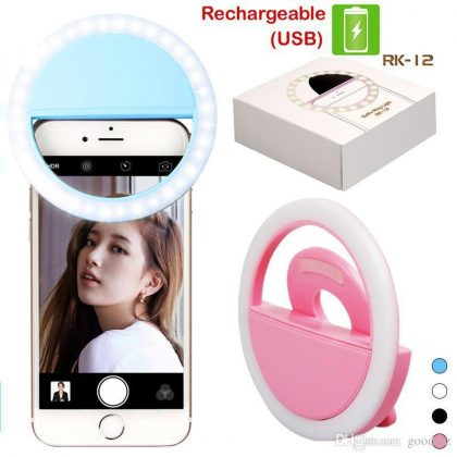 Portable LED Ring Selfie Light for Smartphones, Tablets and iPhone