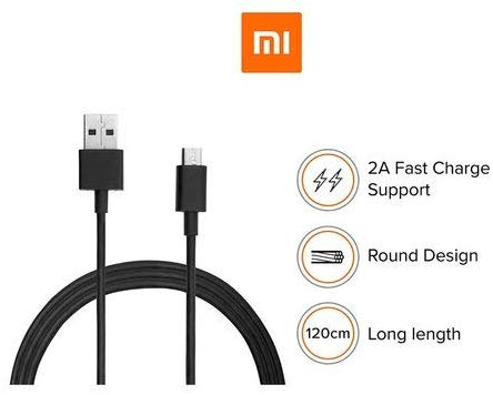 Mi Micro USB 2A Fast Charge Data Cable 120 cm with 1 year gurantee from our desk