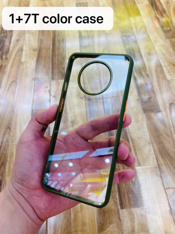 Transparent Back Case with Soft Side Bumper