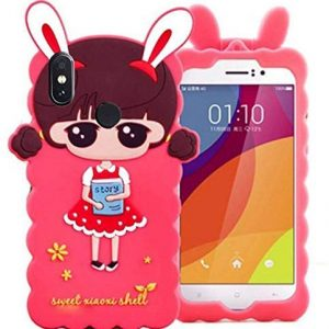 3D Girl Kitty Soft Rubber Back case Cover