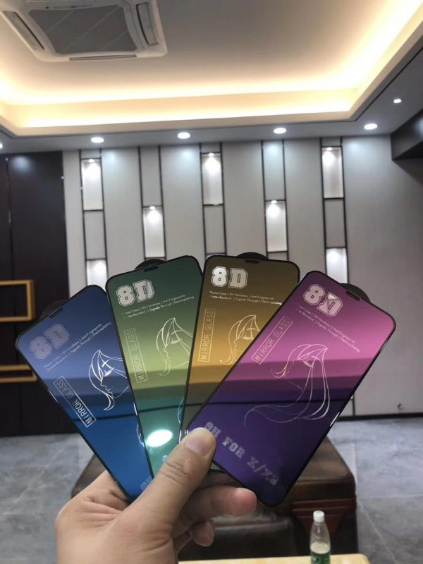 8D Colorful Mirror Tempered Glass