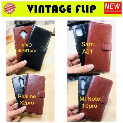Vintage Flip Leather Cover