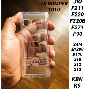 7D Bumper Transparent Back Covers for Jio