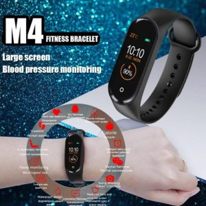 M4 Smart Band Fitness Tracker Watch Heart Rate with Activity Tracker