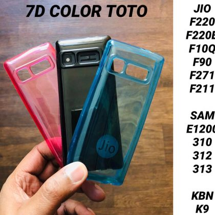 7D Color Transparent Back Covers for Jio