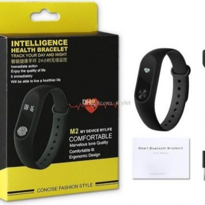 M2 Intelligence Bluetooth Health Wrist Smart Band with Activity Tracker