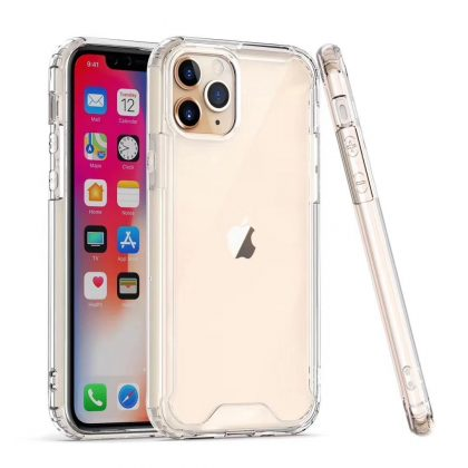 Hard PC TPU Silicone Shockproof Transparent Cover