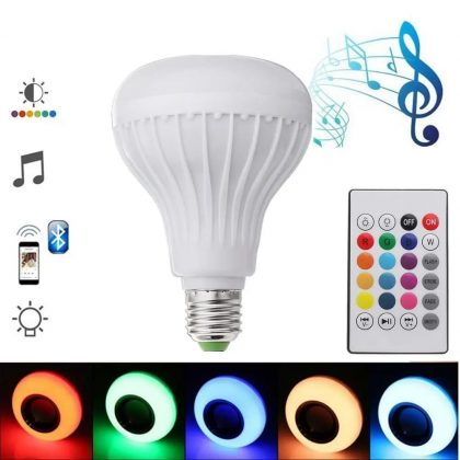 Led Bulb with Bluetooth Speaker Music Light With Remote