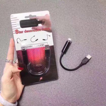 Red Plastic USB Star Decoration Lamp