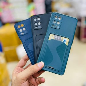 Soft Silicone Case With Card Holder Pocket